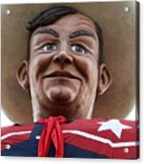 Howdy Folks - Big Tex Portrait 02 Acrylic Print