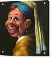 Howdy With A Pearl Earring Acrylic Print