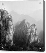 Huangshan Peaks Acrylic Print by Vincent Boreux Photography