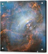 Hubble Captures The Beating Heart Of The Crab Nebula Acrylic Print
