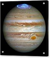 Hubble Captures Vivid Auroras In Jupiter's Atmosphere Acrylic Print