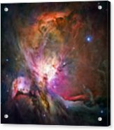 Hubble's Sharpest View Of The Orion Nebula Acrylic Print
