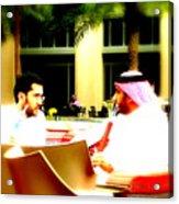 Hubbly Bubbly In Dubai Acrylic Print