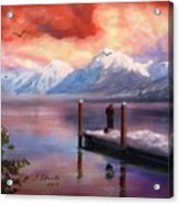 Hudson Bay Winter Fishing Acrylic Print