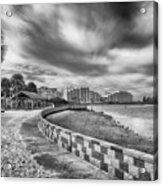 Hudson Beach Acrylic Print