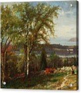Hudson River At Croton Point Acrylic Print