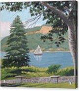 Hudson River Schooner Acrylic Print
