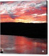 Hudson River Sunrise Acrylic Print