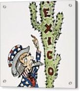 Huerta: Cartoon, C1914 Acrylic Print