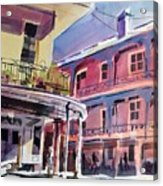 Hues Of The French Quarter Acrylic Print