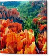 Hues Of The Hoodoos In Bryce Canyon National Park Acrylic Print
