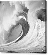 Huge Curling Wave - Bw Acrylic Print