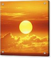 Huge Orange Sun Acrylic Print