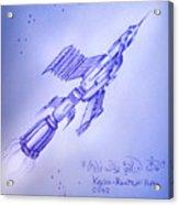 Huge Space Shuttle. In Antiworld Acrylic Print