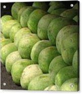 Huge Watermelons Acrylic Print by Yali Shi