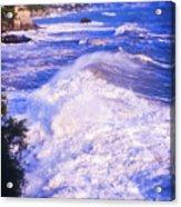 Huge Wave In Ligurian Sea Acrylic Print
