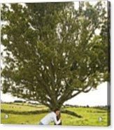 Hugging The Fairy Tree In Ireland Acrylic Print