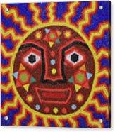 Huichol Beadwork Sun Mexico Acrylic Print