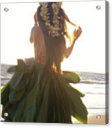 Hula At Sunrise Acrylic Print