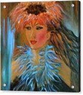 Hula In Turquoise Acrylic Print