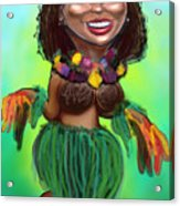 Hula Dancer Acrylic Print