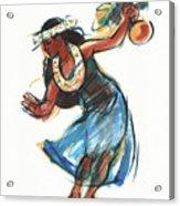 Hula Dancer With Uli Acrylic Print