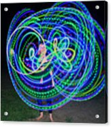 Hula Hoop In Light Acrylic Print