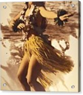 Hula On The Beach Acrylic Print