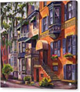 Hull Street In Chippewa Square Savannah Acrylic Print