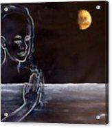 Human Spirit Moonscape Acrylic Print by Susan Moore