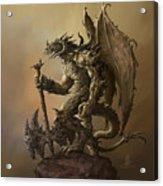 Humanoid Dragon Acrylic Print
