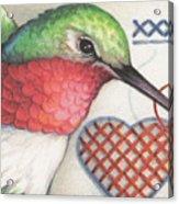 Hummingbird Handiwork Acrylic Print