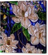 Hummingbird Stained Glass Acrylic Print