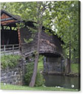 Humpback Covered Bridge In Covington Virginia Acrylic Print
