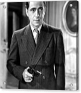 Humphrey Bogart As As Gangster Gloves Donahue All Through The Night 1941 Acrylic Print