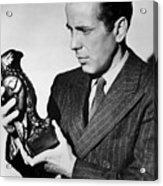 Humphrey Bogart Holding Falcon The Maltese Falcon 1941  Acrylic Print
