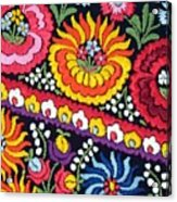 Hungarian Matyo Szentgyorgy Folk Embroidery Photographic Print Acrylic Print