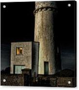 Hunstanton Lighthouse At Night Acrylic Print