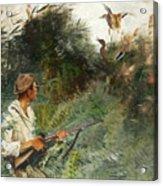 Hunter And Mallards Acrylic Print