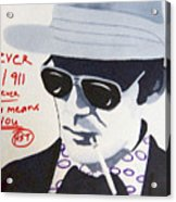 Hunter S Thompson Acrylic Print