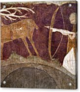 Hunting, 12th Century Acrylic Print