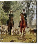 Hunting Dogs For Wild Boar Acrylic Print