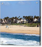 Huntington Beach California Acrylic Print by Paul Velgos