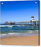 Huntington Beach Pier In Orange County California Acrylic Print