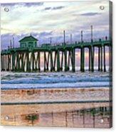 Huntington Beach Pier Panorama Colo Acrylic Print