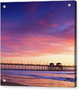 Huntington Beach Pier Sunset  Acrylic Print