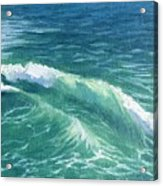 Huntington Small Waves  Acrylic Print