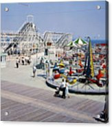 Hunts Pier On The Wildwood New Jersey Boardwalk, Copyright Aladdin Color Inc. Acrylic Print