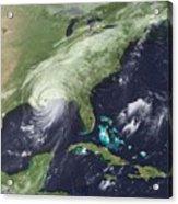 Hurricane Katrina Over Southeast Acrylic Print by Everett