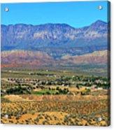 Hurricane Utah And Red Cliffs Nca Acrylic Print
